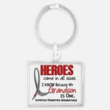 D Heroes All Sizes Grandson Juv Landscape Keychain