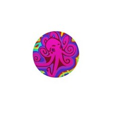 Octopus swirls Mini Button