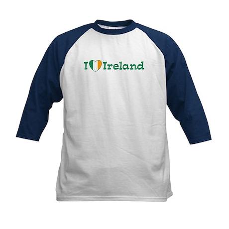 I Love Ireland Kids Baseball Jersey