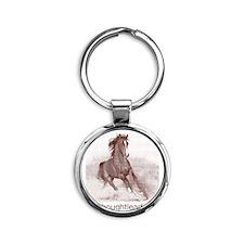 horse_ebooks Round Keychain