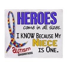 D Heroes All Sizes Autism Niece Throw Blanket