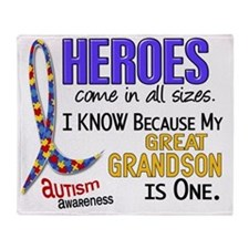 D Heroes All Sizes Autism Great Gran Throw Blanket