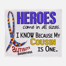 D Heroes All Sizes Autism Cousin Throw Blanket