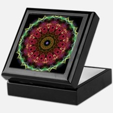 Deep Flower with leaves kaleidoscope Keepsake Box