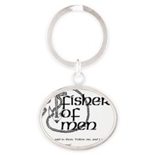 fisher_men Oval Keychain