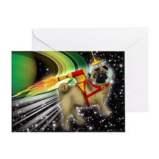 MOUSEPAD-SPACE-PUG Greeting Card