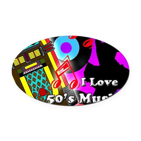 MOUSEPAD-50s-music Oval Car Magnet