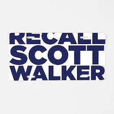 ART Recall Walker 2 Aluminum License Plate