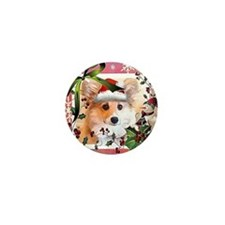 Pembroke Corgi Holiday Mini Button