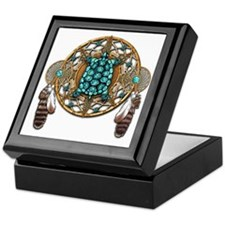 Turquoise Tortoise Dreamcatcher Keepsake Box