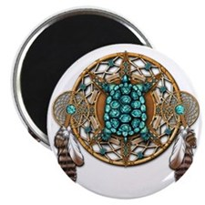 Turquoise Tortoise Dreamcatcher Magnet