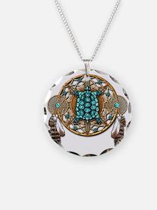 Turquoise Tortoise Dreamcatc Necklace