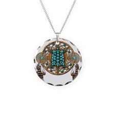 Turquoise Tortoise Dreamcatc Necklace Circle Charm