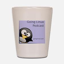 GoingLinux400-badge Shot Glass