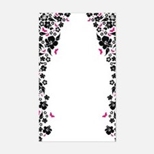 floral white ipad Decal