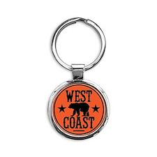 westcoast01 Round Keychain