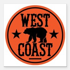 "westcoast01 Square Car Magnet 3"" x 3"""