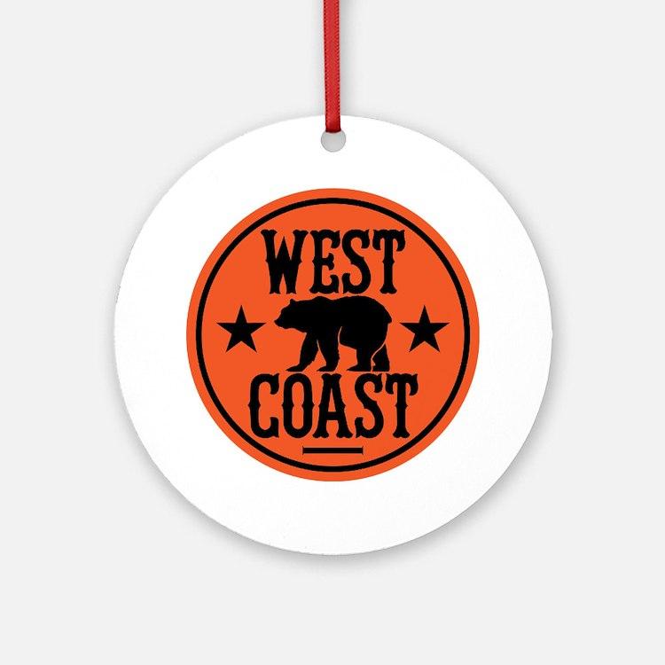 westcoast01 Round Ornament