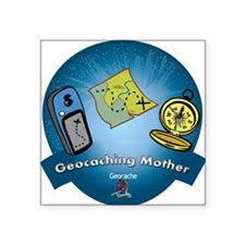 """geomother Square Sticker 3"""" x 3"""""""
