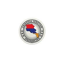 Armenia Yerevan LDS Mission Flag Cutou Mini Button