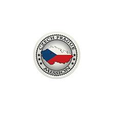 Czech Prague LDS Mission Flag Cutout M Mini Button