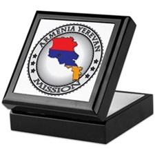 Armenia Yerevan LDS Mission Flag Cuto Keepsake Box
