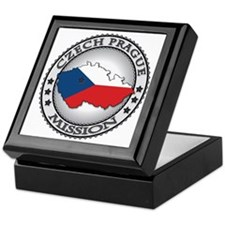Czech Prague LDS Mission Flag Cutout  Keepsake Box