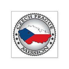 "Czech Prague LDS Mission Fl Square Sticker 3"" x 3"""