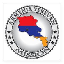 "Armenia Yerevan LDS Miss Square Car Magnet 3"" x 3"""