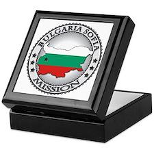 Bulgaria Sofia LDS Mission Flag Cutou Keepsake Box