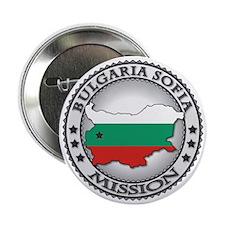 "Bulgaria Sofia LDS Mission Flag Cutou 2.25"" Button"