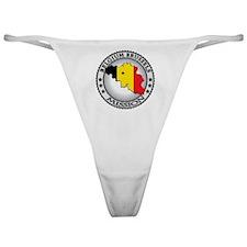 Belgium Brussels LDS Mission Flag Cu Classic Thong