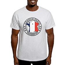 France Paris LDS Mission Flag Cutout T-Shirt