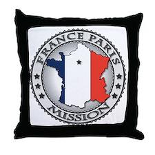 France Paris LDS Mission Flag Cutout  Throw Pillow