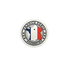 France Paris LDS Mission Flag Cutout M Mini Button