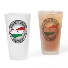 Hungary Budapest LDS Mission Flag C Drinking Glass
