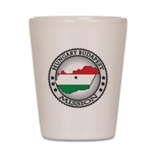 Hungary Budapest LDS Mission Flag Cutou Shot Glass