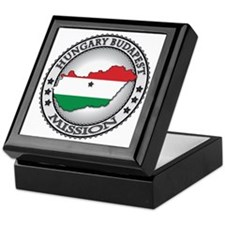 Hungary Budapest LDS Mission Flag Cut Keepsake Box