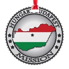 Hungary Budapest LDS Mission Flag C Ornament