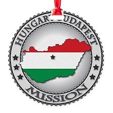 Hungary Budapest LDS Mission Flag C Ornament