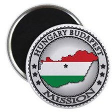 Hungary Budapest LDS Mission Flag Cutout Ma Magnet