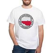 Poland Warsaw LDS Mission Flag Cu Shirt