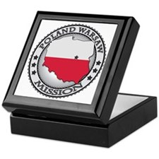 Poland Warsaw LDS Mission Flag Cutout Keepsake Box