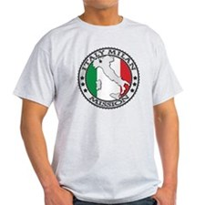 Italy Milan LDS Mission Flag Cutout  T-Shirt