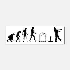 zombie evolution Car Magnet 10 x 3