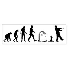 zombie evolution Bumper Sticker