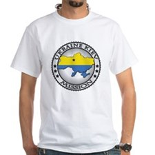 Ukraine Kiev LDS Mission Flag Cut Shirt