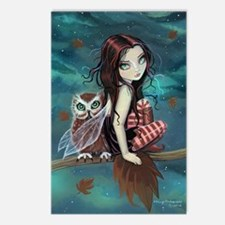 Autumn Owl and Fairy Postcards (Package of 8)
