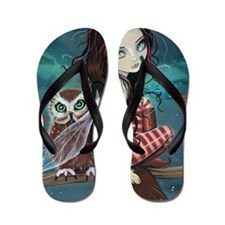 Autumn Owl and Fairy Flip Flops