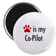 "Dog is my Co-Pilot 2.25"" Magnet (10 pack)"